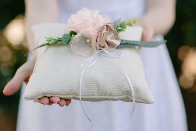 Flower Girl Basket and Ring Bearer Pillow Set KAI KALA Matching Wedding Ring Pillow /& Basket