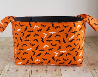 Fabric Storage Basket - Halloween Bats - Toy Storage