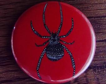 Pocket Mirror Red Spider 58mm Rainbow Colourful Bright