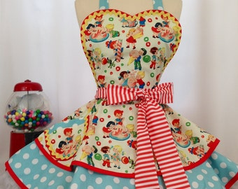 378dfd09f0be Candy Shop PInUp Apron /Retro Apron / Woman's Apron/ Rockabilly / 50s Style