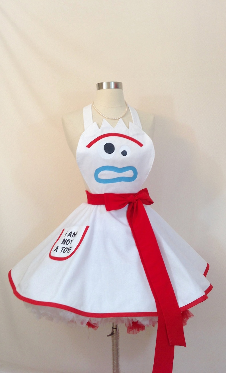 Toy Story 4 Halloween Costumes.Forky Costume Apron Toy Story 4 Halloween Costume Disneybound Toy Story 4 Cosplay Pinup Apron Woman S Apron