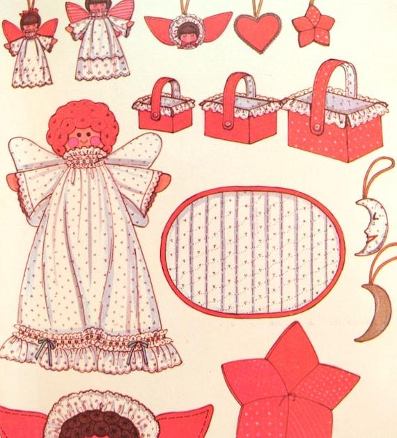 Weihnachtsschmuck Nähen Muster der 1970er Jahre Stoff Engel | Etsy