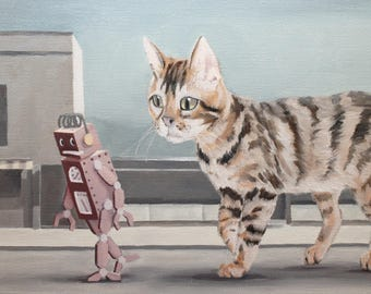 Leading The Way. Signed Print of an Original Surreal Oil Painting