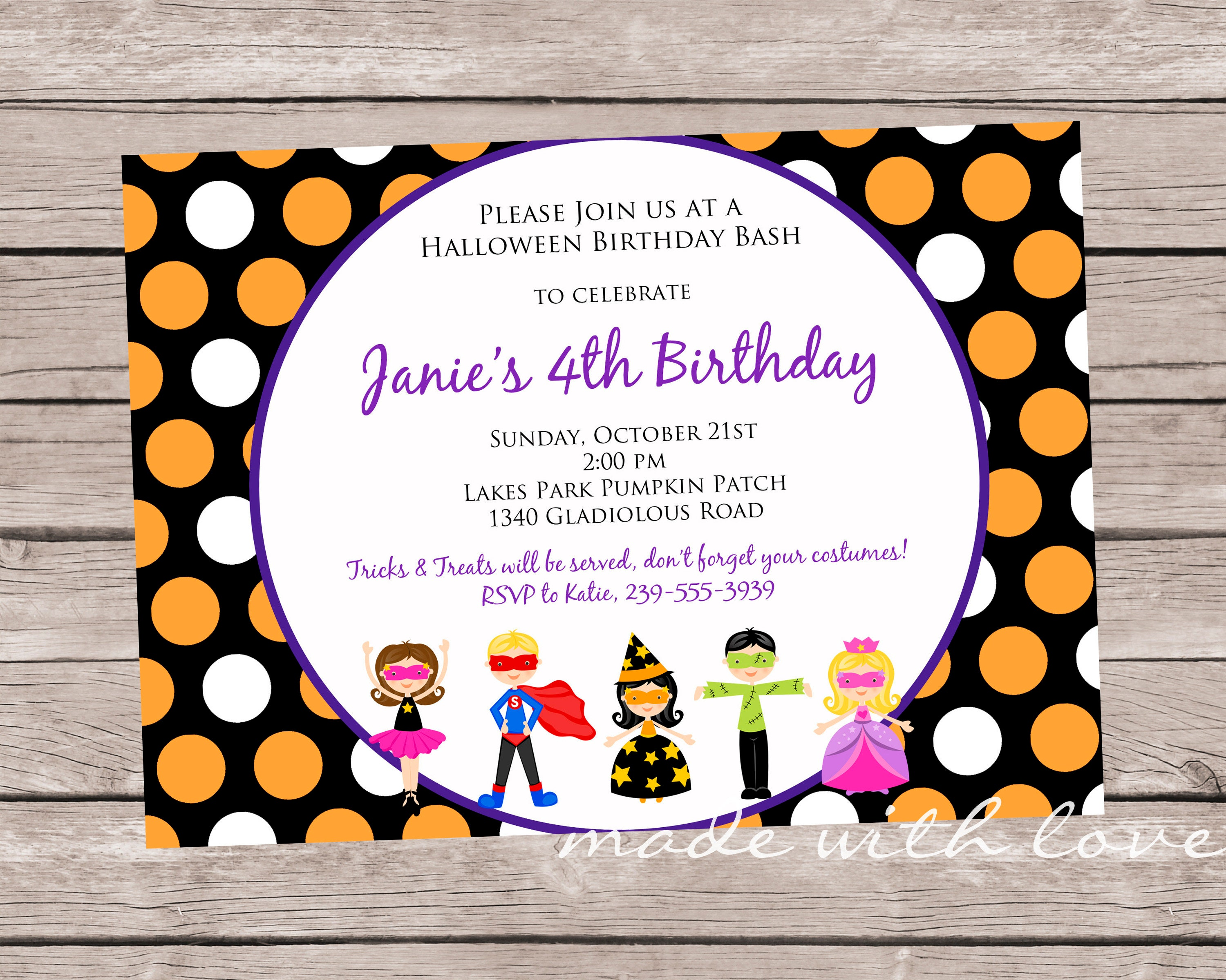 Halloween Kids Party-A 5x7 Halloween Party/Birthday | Etsy