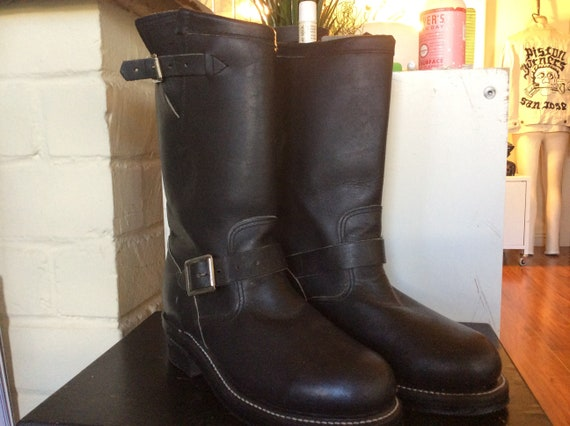 Chippewa Black Leather Engineer Boot Ladies Size 6
