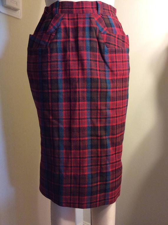 XS Wool Pencil Skirt JD Bad Girl  1950s