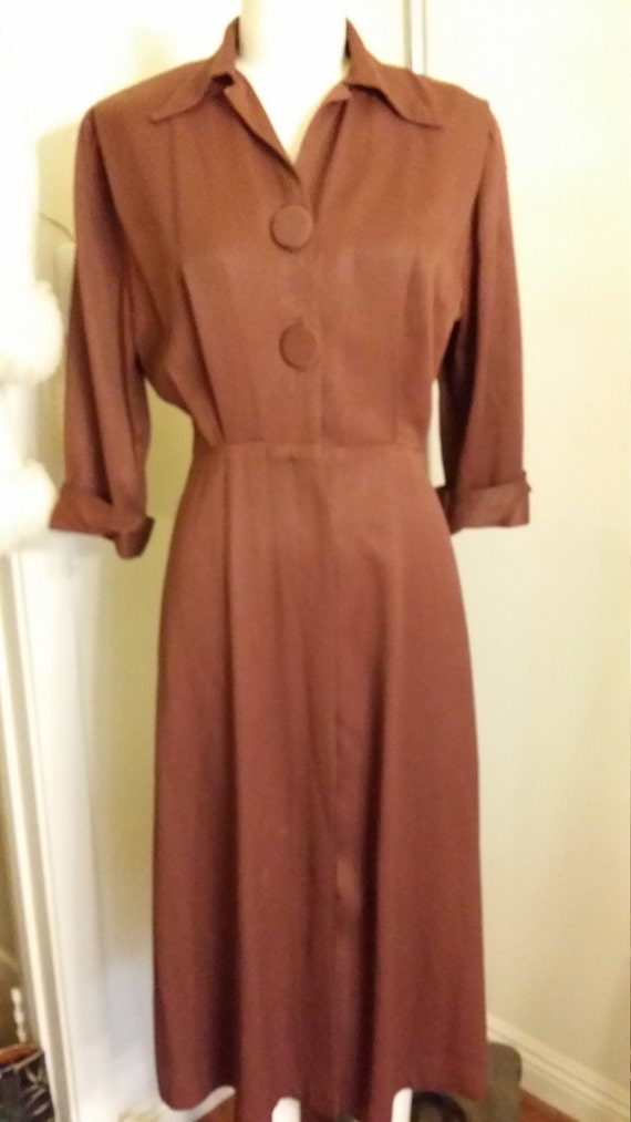 Brown Gabardine Dress