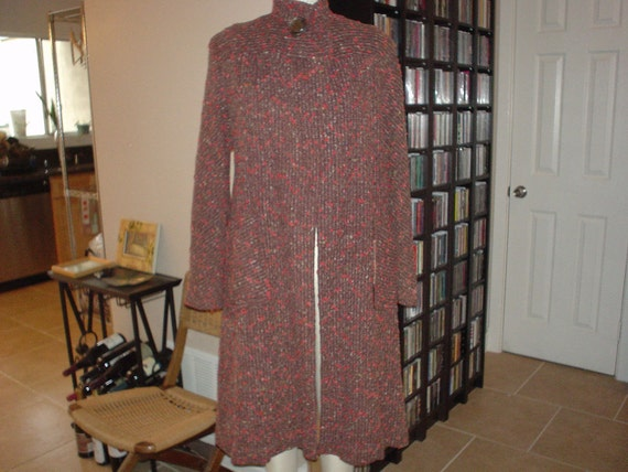 Gorgeous Multi Color Nubby Wool Fleck Coat  Small