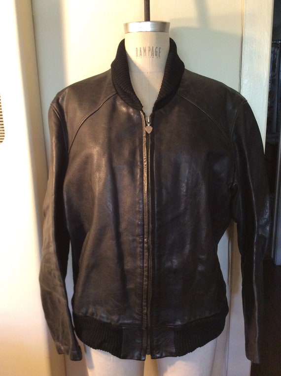 German Leather Shawl  Collar Car Coat