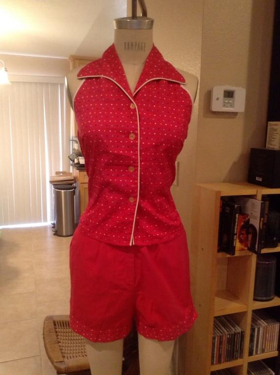 Hot Pink Halter and Shorts Set