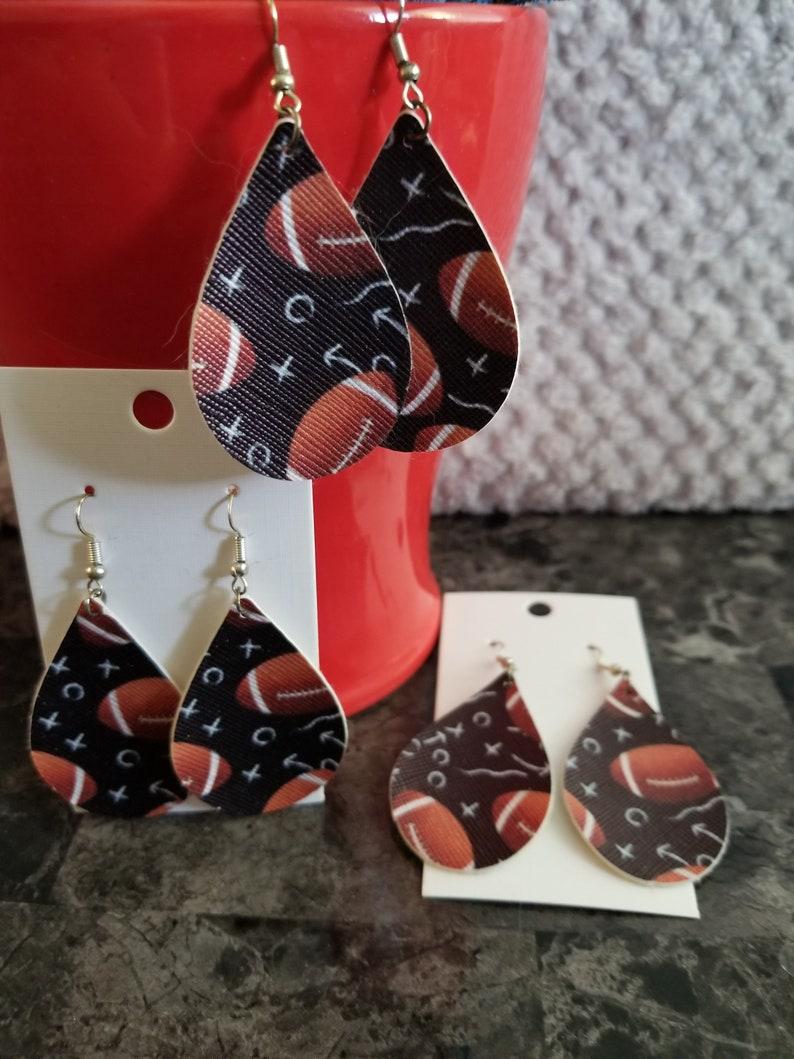 Football team earrings