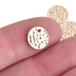 8SBB13 5 round sequin charms 16mm bronze-coloured metal
