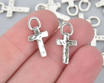 15pcs Tibetan silver cross charms h2520