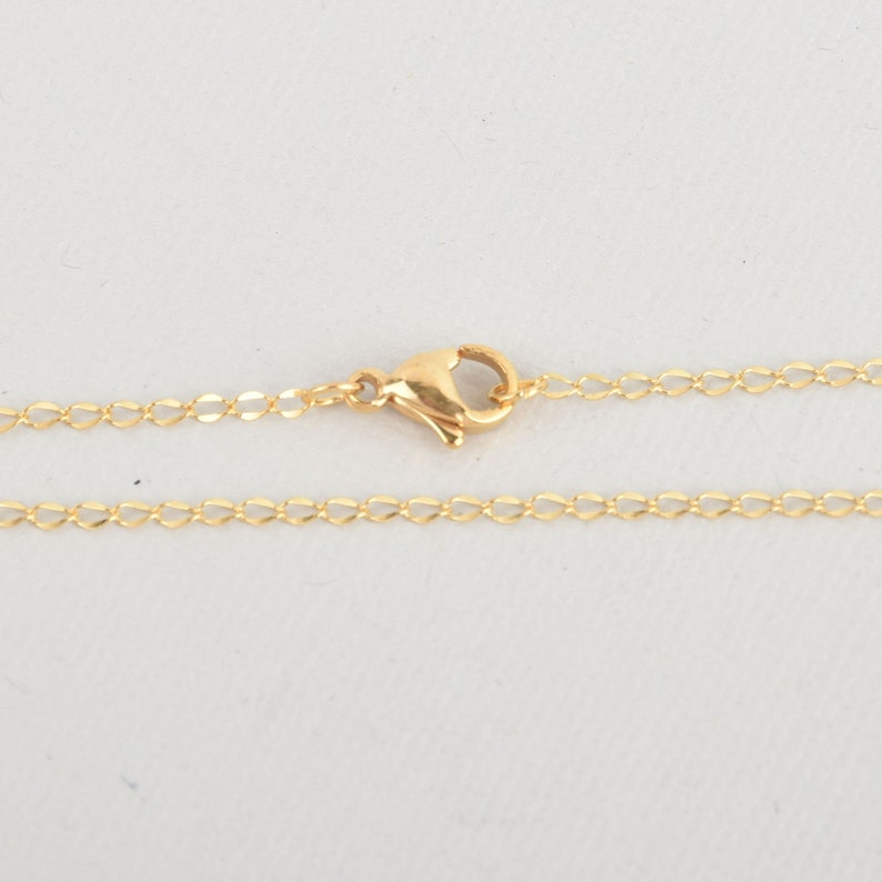 fch1091a 1 GOLD 18 Necklace Chain STAINLESS STEEL Curb Link 3x2mm links