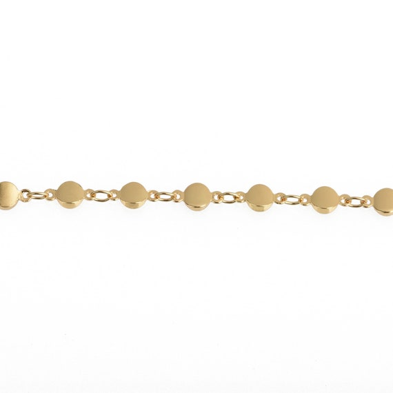 Bead Chain 1 yard 6mm MATTE GOLD 22k Rosary Chain fch0891a
