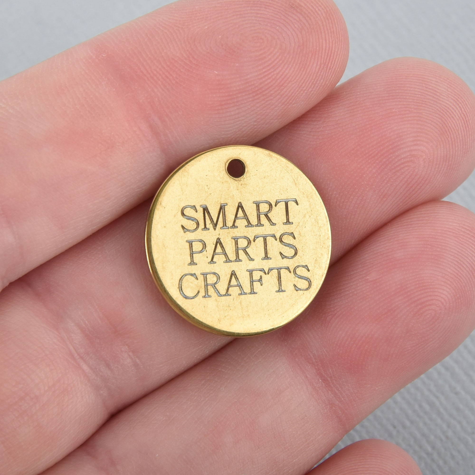 10 Gold Custom laser engraving charms your choice of words   Etsy