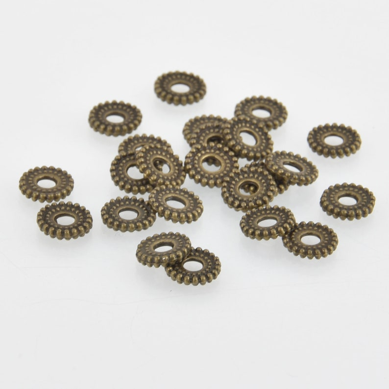 bme0600 8mm Bronze Rondelle Spacer Beads x30 beads