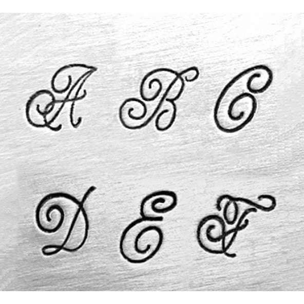 6mm ROYAL CREST Alphabet Letter Metal Stamping Set Fancy Monogram