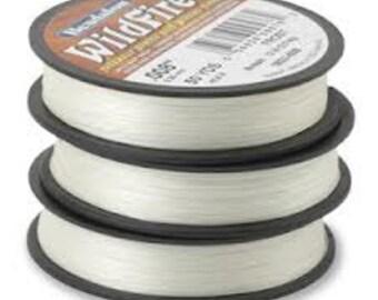 50 yards BEADALON WILDFIRE FROST White Bead Weaving Thread, .006 in, 0.15mm, 10 lb, wir0027