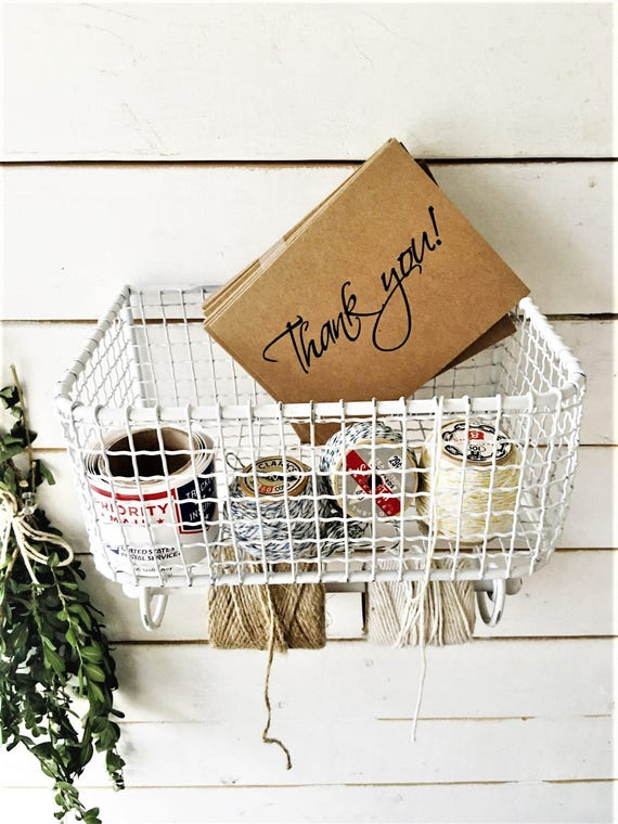 Metal Wire Basket Wall Organizer - Home Office - Kitchen Decor - Bathroom  Organizer - Wall Baskets -Rutic Home Decor -Bathroom Organization