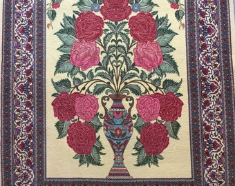 4x6 FT One Of A Kind Antique Handmade Qum Wool Area Rug