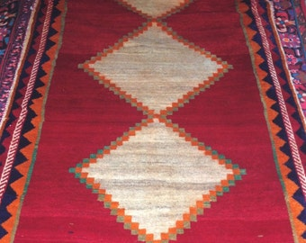 4x8FT Bohemian Handmade Wool Tribal Collectible Carpet Area Rug