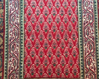 3x10FT Vintage Handmade Wool Carpet Runner Collectible