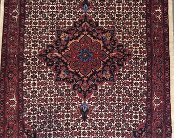 3x5 FT New Authentic Handmade Silk and Wool Collectible Bijar Area Rug