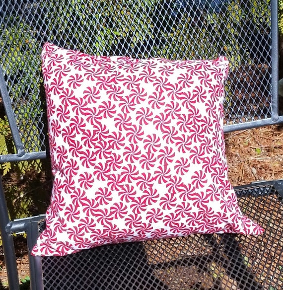 Peppermint Candy Small Decorative Throw Pillow Christmas Etsy Classy Small Decorative Throw Pillows