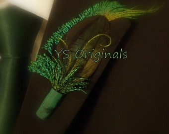 Ready to Ship! The Green Scarab Boutonniere