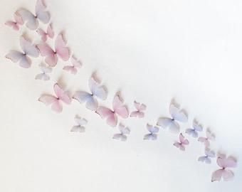 3D Wall Butterflies- Light Pink and Purple Princess Mix
