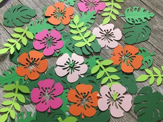 Hawaiian Tropical Sparkle Scatter Confetti Wedding Party Table Decor