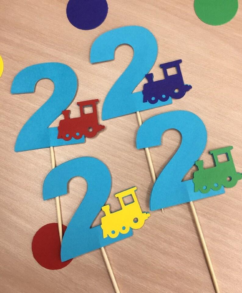 Second Birthday Party Chugga Chugga Two Two Theme Train Confetti Toddler Birthday Railroad Party