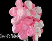 Baby Washcloth Flowers, WashAgami , Bouquet or Diaper Cake Topper