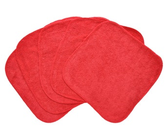 Baby Washcloths  Dark Red 10 Pack, original Hippo Kisses color, Facial Cloths, Washable Sanitizing Wipes