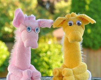 Baby Washcloth Giraffe, WashAgami ™, Washcloth AnimalsPDF and Instructional Video