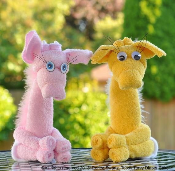 Washcloth Bunnies: Baby Washcloth Giraffe WashAgami ™ Washcloth AnimalsPDF