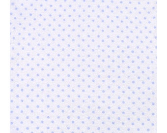 Baby Washcloths Blue Dots 10 Pack, Facial Cloths, Washable Sanitizing Wipes