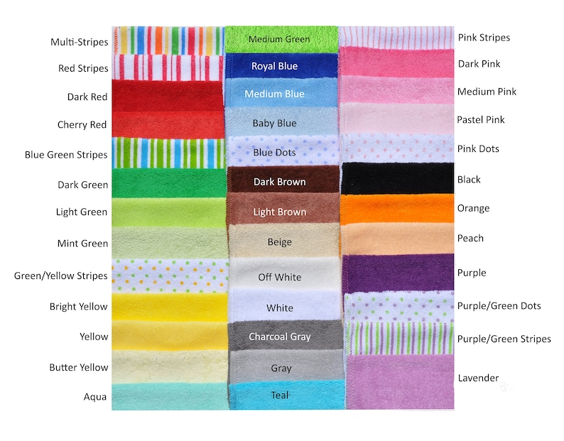 100 Pack Baby Washcloths Save 10.00 on Bulk Pack Your Choice