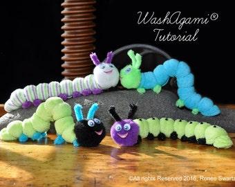 Washcloth Caterpillar, Baby Washcloth Caterpillar , WashAgami® , Instructional Video