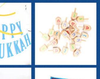Wood Dreidels   Hanukkah Party Favors   Hanukkah Party Supplies