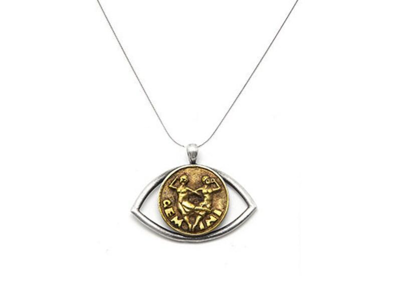 Birthday gift Birthday jewelry astrology necklace Gemini charm Necklace Zodiac pendant necklace -Gemini horoscope Gemini Necklace