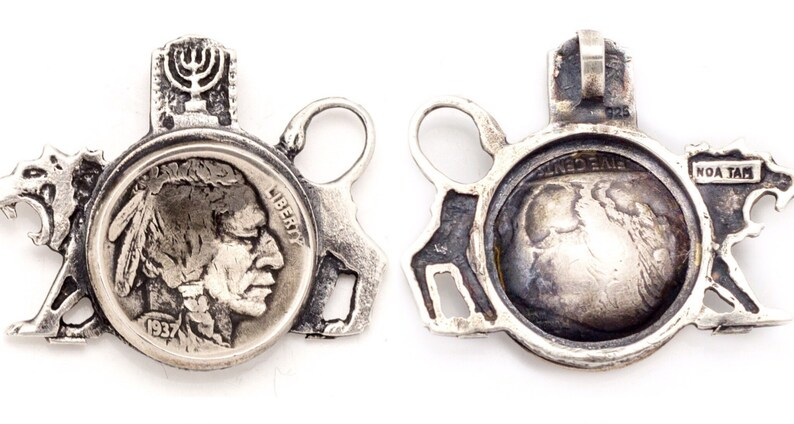 Coin pendent with the Buffalo Nickel  coin of The USA