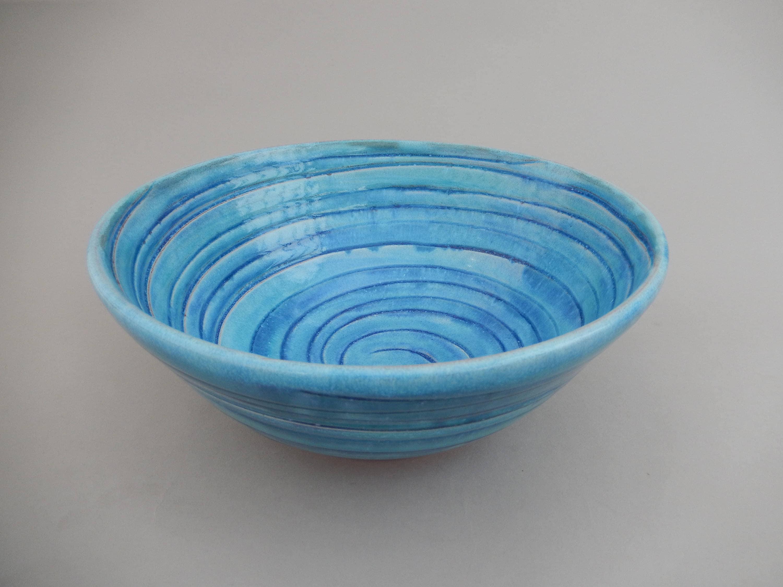 turquoise ceramic bowl pottery white bowl