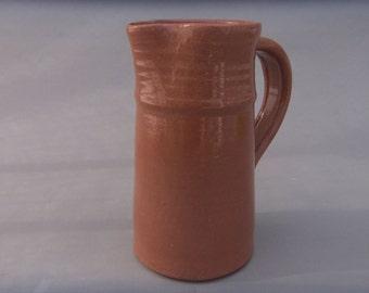 Small Ceramic Pitcher - Terracotta Milk or Juice Pitcher - Handmade Pottery  Vessel - Earthtone