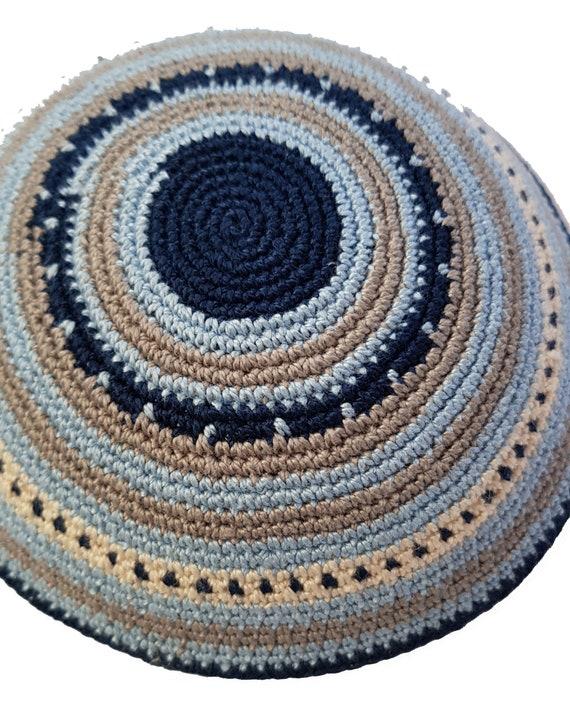 Kippah Jewish Kipa Hand Knit Kippot Vog 14cm Judaica Crochet Yarmulke Hand made Kipa #A1488