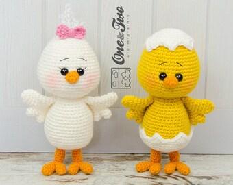 3a70d4ef469a1d Coco the Little Chicken Amigurumi - PDF Crochet Pattern - Instant Download  - Amigurumi crochet Cuddy Stuff Plush