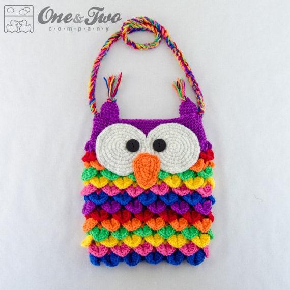 Colorful Owl Purse Pdf Crochet Pattern Instant Download