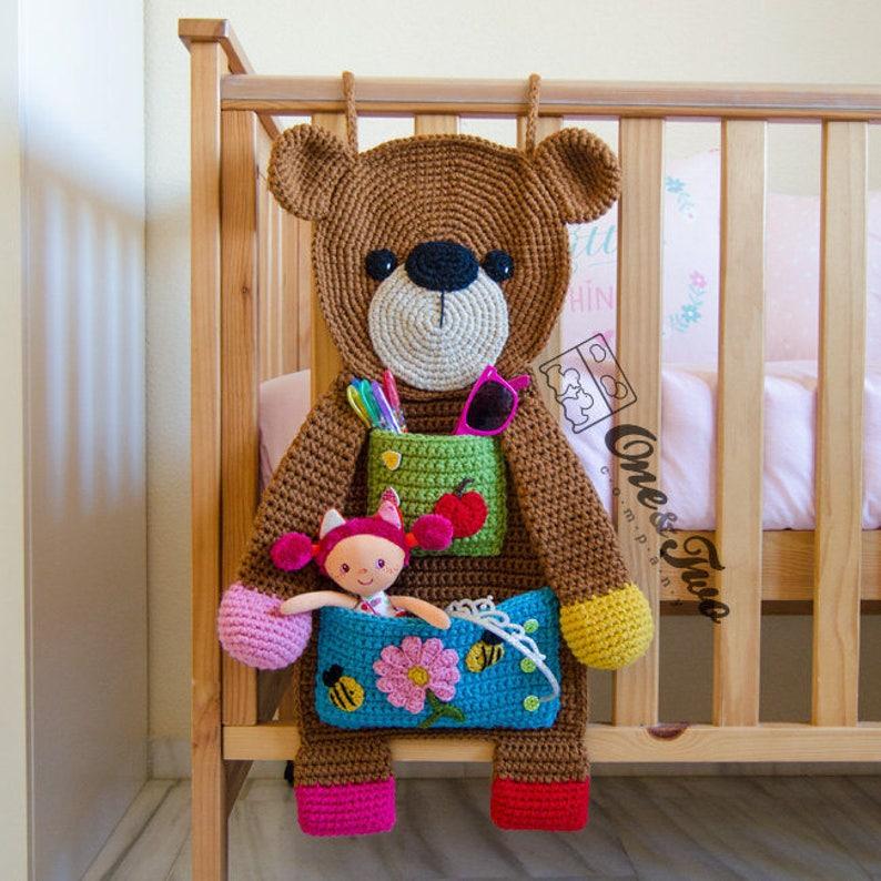Teddy Bear Organizer Pdf Crochet Pattern Instant Download Etsy