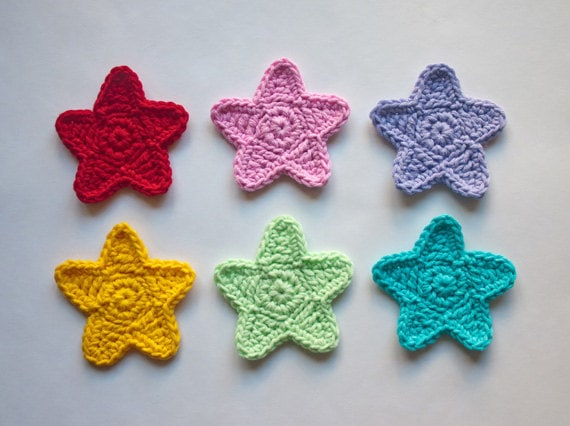 Star Applique Pdf Crochet Pattern Instant Download Etsy